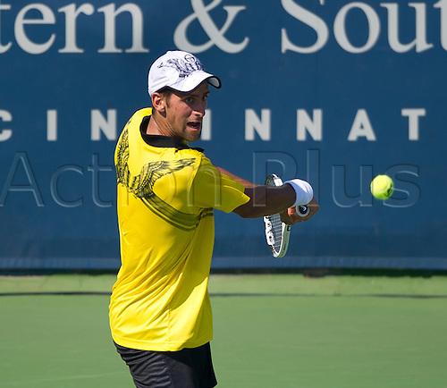 20.08.2010. Novak Djokovic (SRB) falls to   Andy Roddick (USA) at the Western and Southern Financial Group Masters Series in Cincinnati.  Roddick won, 6-4, 7-5.
