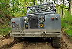 Grey Series 2 Land Rover participating in the ALRC National 2008 RTV Trial. The Association of Land Rover Clubs (ALRC) National Rallye is the biggest annual motor sport oriented Land Rover event and was hosted 2008 by the Midland Rover Owners Club at Eastnor Castle in Herefordshire, UK, 22 - 27 May 2008. --- No releases available. Automotive trademarks are the property of the trademark holder, authorization may be needed for some uses.