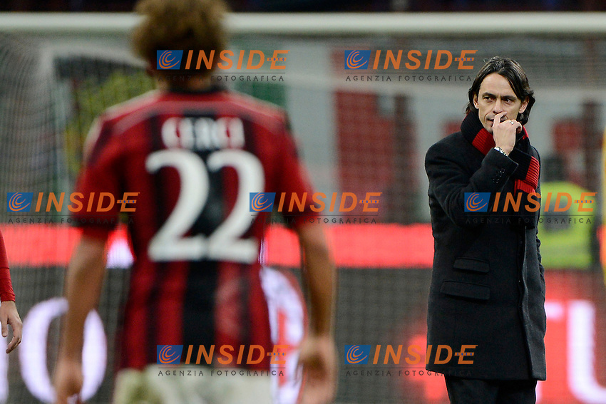 Filippo Inzaghi, Alessio Cerci Milan<br /> Milano 01-02-2015 Stadio Giuseppe Meazza - Football Calcio Serie A Milan - Parma. Foto Giuseppe Celeste / Insidefoto
