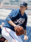 Reno Aces starting pitcher Tyler Skaggs throws during their game against the Las Vegas 51s played on Sunday afternoon, July 1, 2012 in Reno, Nevada.
