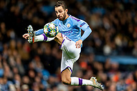 Bernardo Silva of Manchester City controls the ball during the UEFA Champions League Group C match between Manchester City and Shakhtar Donetsk at the Etihad Stadium on November 26th 2019 in Manchester, England. (Photo by Daniel Chesterton/phcimages.com)