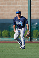 Corpus Christi Hooks right fielder Ramon Laureano (9) during a game against the Springfield Cardinals on May 30, 2017 at Hammons Field in Springfield, Missouri.  Springfield defeated Corpus Christi 4-3.  (Mike Janes/Four Seam Images)