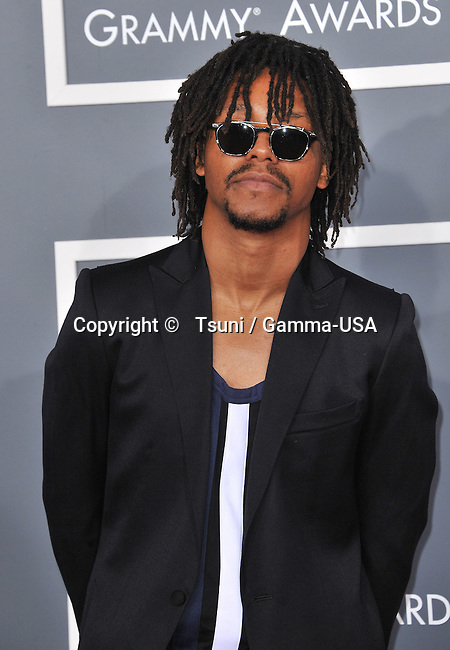 Lupe Fiasco  at  the 55th Ann. Grammy Awards 2013 at the Staples Center in Los Angeles.