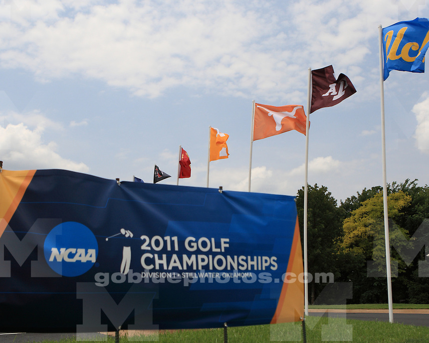 University of Michigan men's golf on the second day of the 2011 NCAA National Championships in Stillwater, OK, on June 1, 2011.