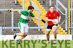 Darran O'Sullivan Glenbeigh/Glencar turns Seamus O'Neill Na Gaeil during the Junior Premier final in Fitzgerald Stadium on Sunday
