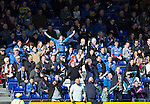 Ross County v St Johnstone&hellip;..30.04.16  Global Energy Stadium, Dingwall<br />Happy saints fans celebrates at Dingwall<br />Picture by Graeme Hart.<br />Copyright Perthshire Picture Agency<br />Tel: 01738 623350  Mobile: 07990 594431