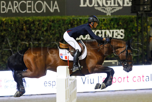 30th September 2017, Real Club de Polo de Barcelona, Barcelona, Spain; Longines FEI Nations Cup, Jumping Final;  Tiffany Foster (FRA) ridding Tripple X III