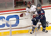 Dana Trivigno (BC - 8), Leah Lum (UConn - 7) - The Boston College Eagles defeated the visiting UConn Huskies 4-0 on Friday, October 30, 2015, at Kelley Rink in Conte Forum in Chestnut Hill, Massachusetts.