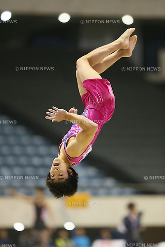 Kenzo Shirai, <br /> MAY 17, 2015 - Artistic Gymnastics : <br /> The 54th NHK Cup <br /> Men's Individual All-Around <br /> Floor <br /> at Yoyogi 1st Gymnasium, Tokyo, Japan. <br /> (Photo by YUTAKA/AFLO SPORT)