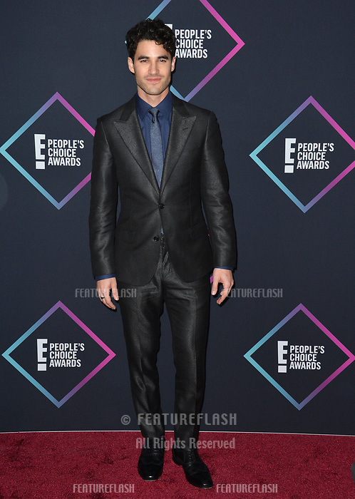 LOS ANGELES, CA. November 11, 2018: Darren Criss at the E! People's Choice Awards 2018 at Barker Hangar, Santa Monica Airport.<br /> Picture: Paul Smith/Featureflash