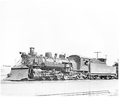Fireman side view of D&amp;RGW $485 K-36 in Alamosa.<br /> D&amp;RGW  Alamosa, CO  ? 1950
