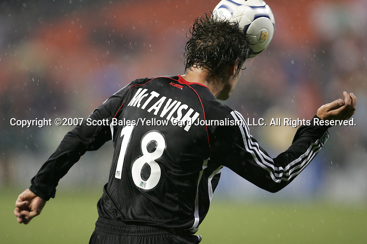 01 March 2007: DC United's Devon McTavish. DC United defeated CD Olimpia of Honduras 3-2 at RFK Stadium in Washington DC in the second leg of a CONCACAF Champions Cup quarterfinal competition.  DC United advanced by an aggregate score of 7-3.