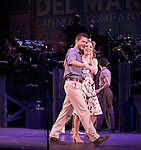 Will Chase & Laura Osnes.during the New York City Center Encores! 'Pipe Dream' Opening Night Curtain Call in New York City on 3/28/2012.