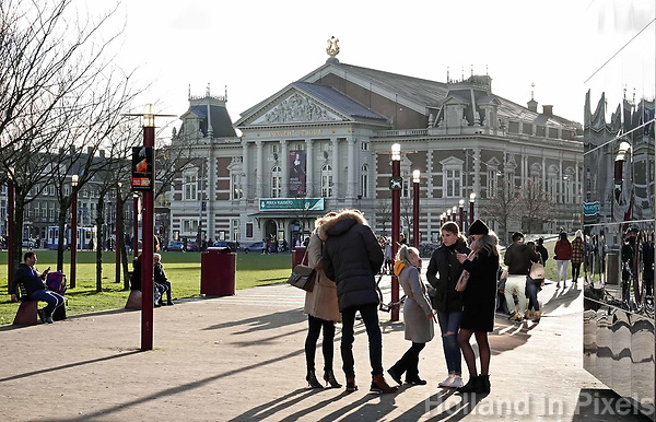 Nederland - Amsterdam -  Februari 2019.  Het Concertgebouw tegenover het Museumplein.  Foto Berlinda van Dam / Hollandse Hoogte