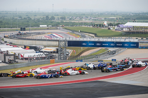 F4 US Championship<br /> Rounds 16-17-18<br /> Circuit of The Americas, Austin, TX USA<br /> Saturday 16 September 2017<br /> 7, Blake Mount 28, Ben Waddell<br /> World Copyright: Keith Daniel Rizzo<br /> LAT Images