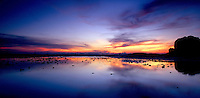 Colorful sunset panorama, West Hat Railay Rei Lei Beach, Thailand