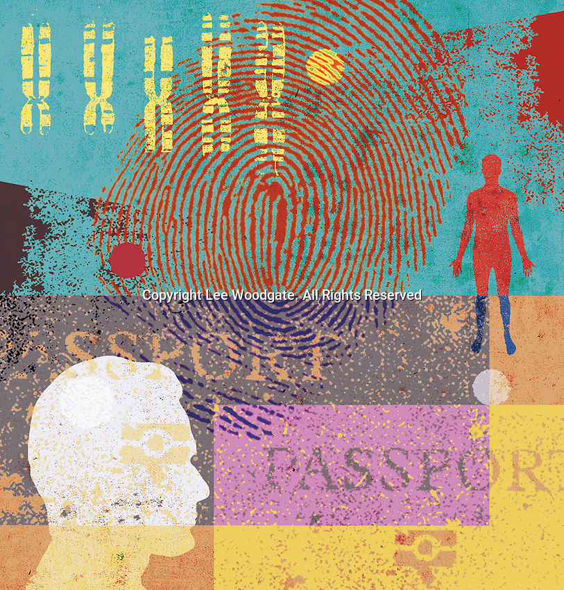 Man, chromosomes, fingerprint and passport
