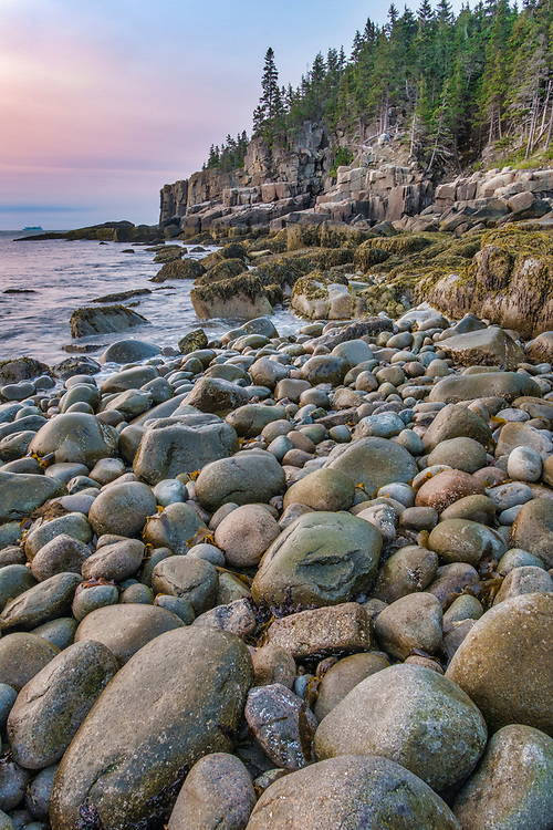 Aptly named Boulder Beach, the boulders are eventually converted by the never ending surf into smooth round objects of beauty on this coastline of Acadia NP.