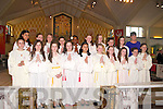 Abbeyfeale Confirmation : Pupils from Scoil Mhatair De, Abbeyfeale who were confirmed by Bishop of Limerick Brendan Leahy at Abbeyfeale church on Friday last.