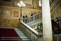 Vatican City, November 19, 2016. Alcuni invitati arrivano all'ambasciata di Spagna presso la Santa Sede per partecipare alla cena organizzata per celebrare l'elezione di un nuovo cardinale.