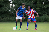 Brendan May & Paris Cowan-Hall during the PEAK Elite Sportswear Photoshoot at Wycombe Training Ground, High Wycombe, England on 1 August 2017. Photo by PRiME Media Images.