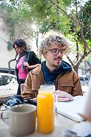 A walk through La Roma Neighbourhood with Torreblanca lead singer/composer Juan Manuel. Pan Comido,  Colonia Roma, Mexico DF.