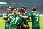 12.03.2018, Weserstadion, Bremen, GER, 1.FBL, SV Werder Bremen vs 1. FC Koeln<br /> <br /> im Bild<br /> Milot Rashica (Werder Bremen #11) bejubelt seinen Treffer zum 2:1, mit Teamkollegen, Florian Kainz (Werder Bremen #7), Zlatko Junuzovic (Werder Bremen #16), Maximilian Eggestein (Werder Bremen #35), Ludwig Augustinsson (Werder Bremen #5), Max Kruse (Werder Bremen #10), <br /> <br /> Foto &copy; nordphoto / Ewert