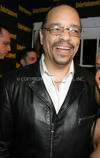 WWW.ACEPIXS.COM . . . . . ....NEW YORK, FEBRUARY 27, 2005....Ice-T at Entertainment Weekly's Academy Awards party at Elaine's.....Please byline: ACE009 - ACE PICTURES.. . . . . . ..Ace Pictures, Inc:  ..Philip Vaughan (646) 769-0430..e-mail: info@acepixs.com..web: http://www.acepixs.com