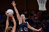 Silver Ferns' Katrina Grant in action during the International Netball - NZ Silver Ferns v England Roses at Te Rauparaha Arena, Porirua, New Zealand on Thursday 7 September 2017.<br /> Photo by Masanori Udagawa. <br /> www.photowellington.photoshelter.com