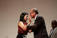 SÃO PAULO, 22 DE FEVEREIRO DE 2013 - AGENDA GERALDO  ALCKMIN ´- A Defensora Pública-Geral, Daniela Sollberger Cembranelli durante a solenidade de posse de 120 novos Defensores Públicos. A posse aconteceu no Auditório Simón Bolivar do Memorial da América Latina, na tarde desta sexta-feira(22), zona oeste da capital - (FOTO: LOLA OLIVEIRA//BRAZIL PHOTO PRESS)