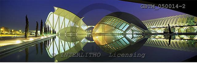 Tom Mackie, LANDSCAPES, panoramic, photos, City of Arts & Sciences, Valencia, Spain, GBTM050014-2,#L#