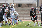 Torrance, CA 05/11/13 - Samuel Harnisch (St Margarets #5), Alex Waller (St Margarets #17), Matt Edelstein (Harvard Westlake #33) and unidentified Harvard-Westlake player(s) in action during the Harvard Westlake vs St Margarets 2013 Los Angeles / Orange County Championship game.  St Margaret defeated Harvard Westlake 15-8.