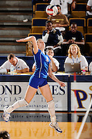 20 November 2008:  South Alabama outside hitter Juliana Pallamin de Almeida (2) attempts a kill shot during the FIU 3-1 victory over South Alabama in the first round of the Sun Belt Conference Championship tournament at FIU Stadium in Miami, Florida.