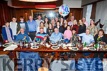 Kevin Finn, seated front centre from Annascual and Tralee celebrating his 50th birthday in the Grand Hotel on Saturday night.
