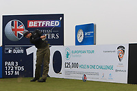 Thomas Detry (BEL) and on the 10th tee during the Pro-Am of the Betfred British Masters 2019 at Hillside Golf Club, Southport, Lancashire, England. 08/05/19<br /> <br /> Picture: Thos Caffrey / Golffile<br /> <br /> All photos usage must carry mandatory copyright credit (© Golffile | Thos Caffrey)