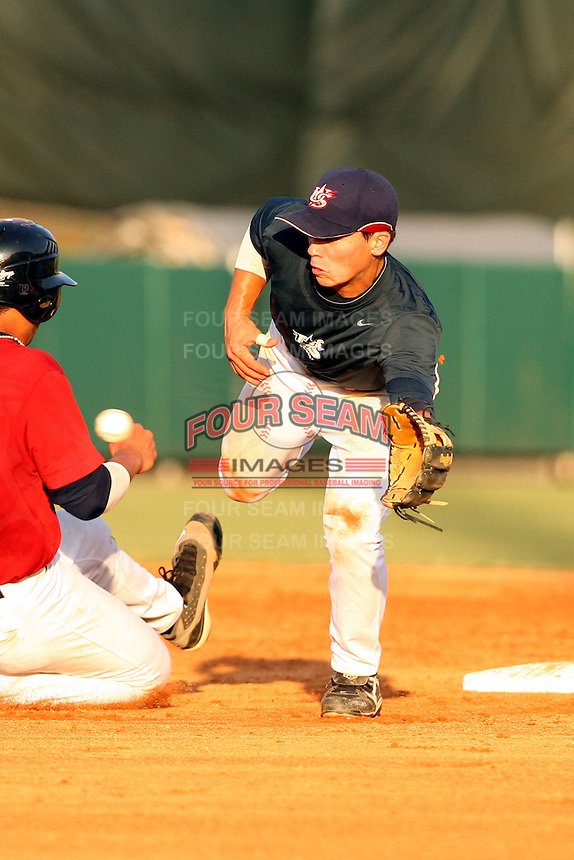 September 14, 2009:  Tony Wolters, one of many top prospects in action, taking part in the 18U National Team Trials at NC State's Doak Field in Raleigh, NC.  Photo By David Stoner / Four Seam Images