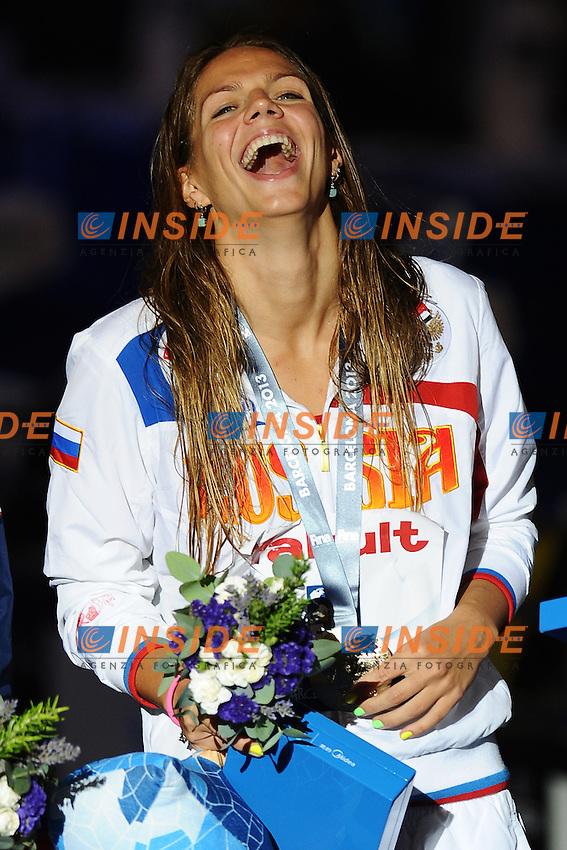 50 breaststroke women<br /> EFIMOVA Yuliya, Russia RUS, gold medal<br /> Swimming - Nuoto <br /> Barcellona 4/8/2013 Palau St Jordi <br /> Barcelona 2013 15 Fina World Championships Aquatics <br /> Foto Andrea Staccioli Insidefoto