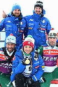 17th March 2019, Ostersund, Sweden; IBU World Championships Biathlon, day 9, mass start women; Dorothea Wierer (ITA) shows her gold medal from the ladies competition