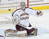 Thatcher Demko (BC - 30) - The Boston College Eagles defeated the visiting University of Massachusetts Lowell River Hawks 3-0 on Friday, February 21, 2014, at Kelley Rink in Conte Forum in Chestnut Hill, Massachusetts.