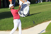 Alexander Levy (FRA) chips from a bunker at the 16th green during Sunday's Final Round of the 2018 Turkish Airlines Open hosted by Regnum Carya Golf &amp; Spa Resort, Antalya, Turkey. 4th November 2018.<br /> Picture: Eoin Clarke | Golffile<br /> <br /> <br /> All photos usage must carry mandatory copyright credit (&copy; Golffile | Eoin Clarke)