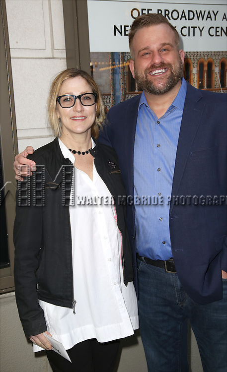 Edie Falco and Stephen Wallem attends the Broadway Opening Night performance of 'The Father'  at The Samuel J. Friedman Theatre on April  14, 2016 in New York City.