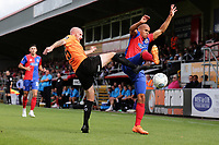 Elliott Romain of Dagenham and Redbridge and Drew Talbot of Chesterfield during Dagenham & Redbridge vs Chesterfield, Vanarama National League Football at the Chigwell Construction Stadium on 15th September 2018