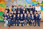Oonagh McCarthy with her junior infant class that started school in St Olivers NS, Killarney on Monday. Front left to right: Liam Griffin, Oskar Duleba, Gabriel Piekarska, Nathaniel Neri, Kathleen O'Brien, Filip Zglinski, Leah Zemaityte, Sienna Coffey, Cian Horan. Middle left to right: Filip Bilski, Paddy Maloney, Saoirse O'Donoghue, Maja Gabrys, Katie Jane Hatton, Livia Nyeste, Ezabele McGuinness, Innes Jakubonska. Back left to right: John Mangan, Tessie Ajibare, Eanna Hennigan, Clodagh Lynch, Lauren Casey, Conor McElligott, Cian Hegarty, Padraig Quill, Jessica McCrohan with Ms. Oonagh McCarthy, (teacher), and Ms. Margaret Ahlert, S.N.A.