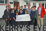Kilcummin's three national schools presented a cheque to the Killarney branch of the Kerry Hospice Foundation last Thursday. <br /> Front L-R Cian Murphy, Kieran Nagle, Cathal Brosnan, Robin Moynihan and Conor O'Leary. <br /> Back L-R Noreen Brosnan, Joan O'Neill, Noreen Nagle, Patsy O'Neill, Katie O'Leary, Dylan Murphy, Kay O'Leary, Geraldine Guilfoyle and Pat Doolan (Kerry Hospice)