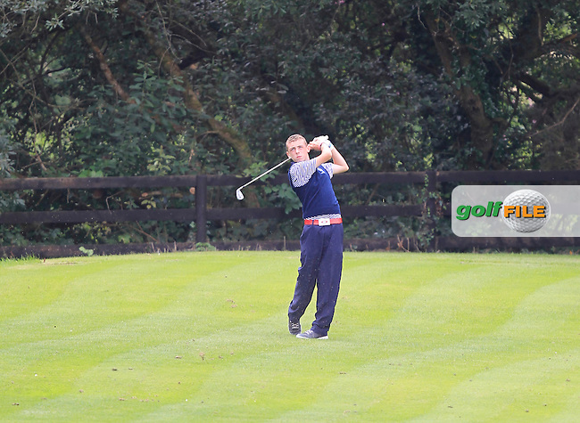 Aaron Ryan (Munster) on the 13th tee during the Boys Under 15 Interprovincial Championship Afternoon Round at the West Waterford Golf Club on Wednesday 22nd August 2013 <br /> Picture:  Thos Caffrey/ www.golffile.ie
