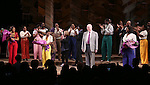 Jennifer Hudson, Cynthia Erivo, Allee Willis, Marsha Norman, John Doyle, Danielle Brooks with cast during the Broadway Opening Night Performance Curtain Call for 'The Color Purple' at the Bernard B. Jacobs Theatre on December 10, 2015 in New York City.