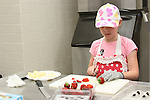 A kids cooking camp at CFCC.