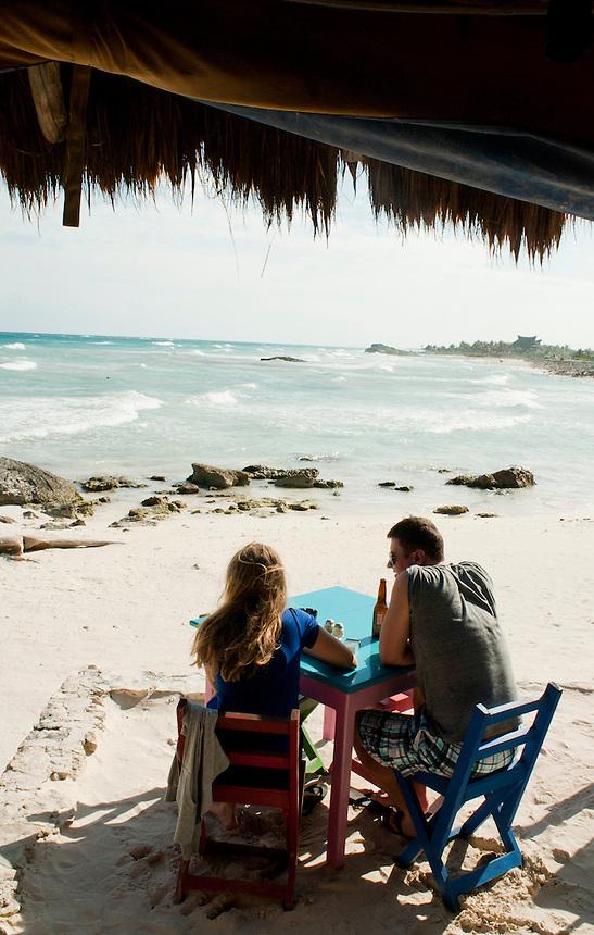 Zama restaurant, Tulum, Quintana Roo, Mexico