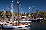 Camden Harbor in Camden, ME, USA