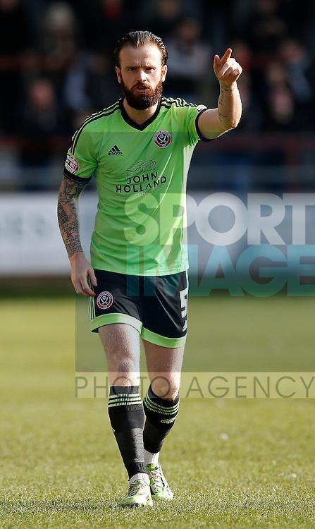 John Brayford of Sheffield Utd - English League One - Fleetwood Town vs Sheffield Utd - Highbury Stadium - Fleetwood - England - 5rd March 2016 - Picture Simon Bellis/Sportimage